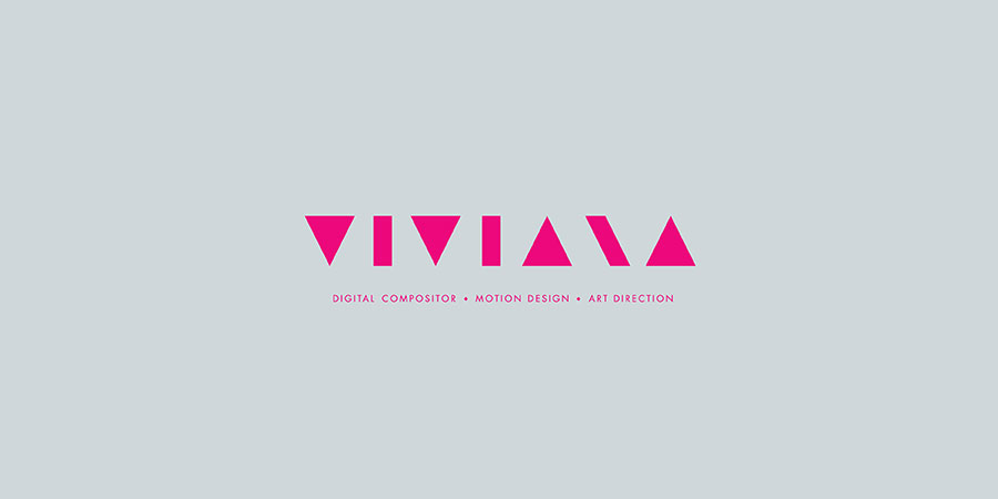 Viviana Visual Identity magenta over grey